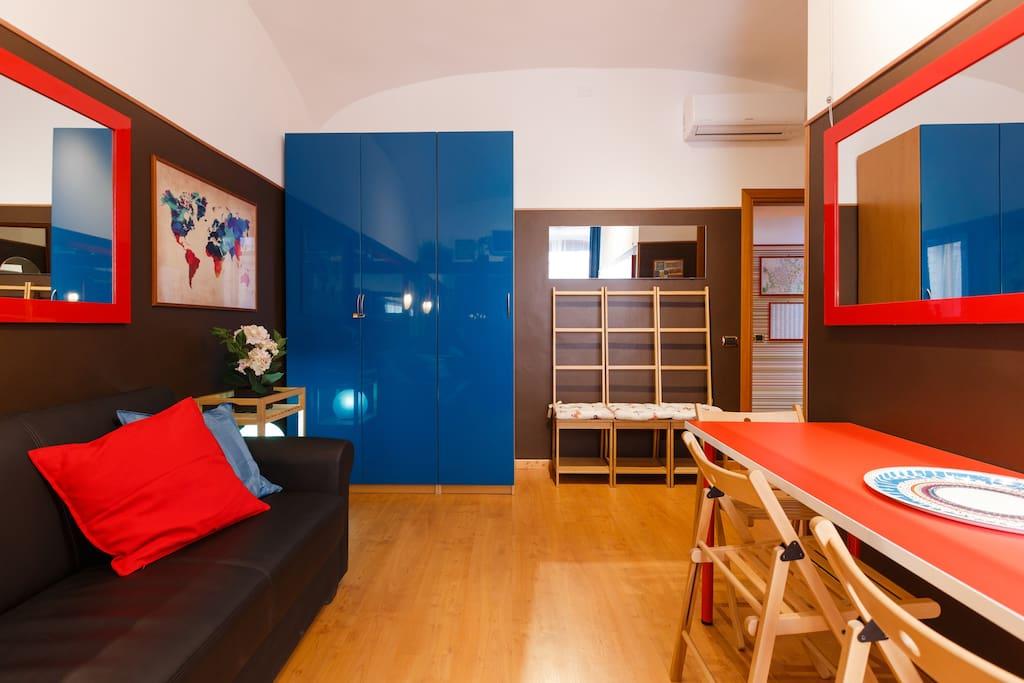 2br 2ba design flat centre rome close to termini for Apartment design rome