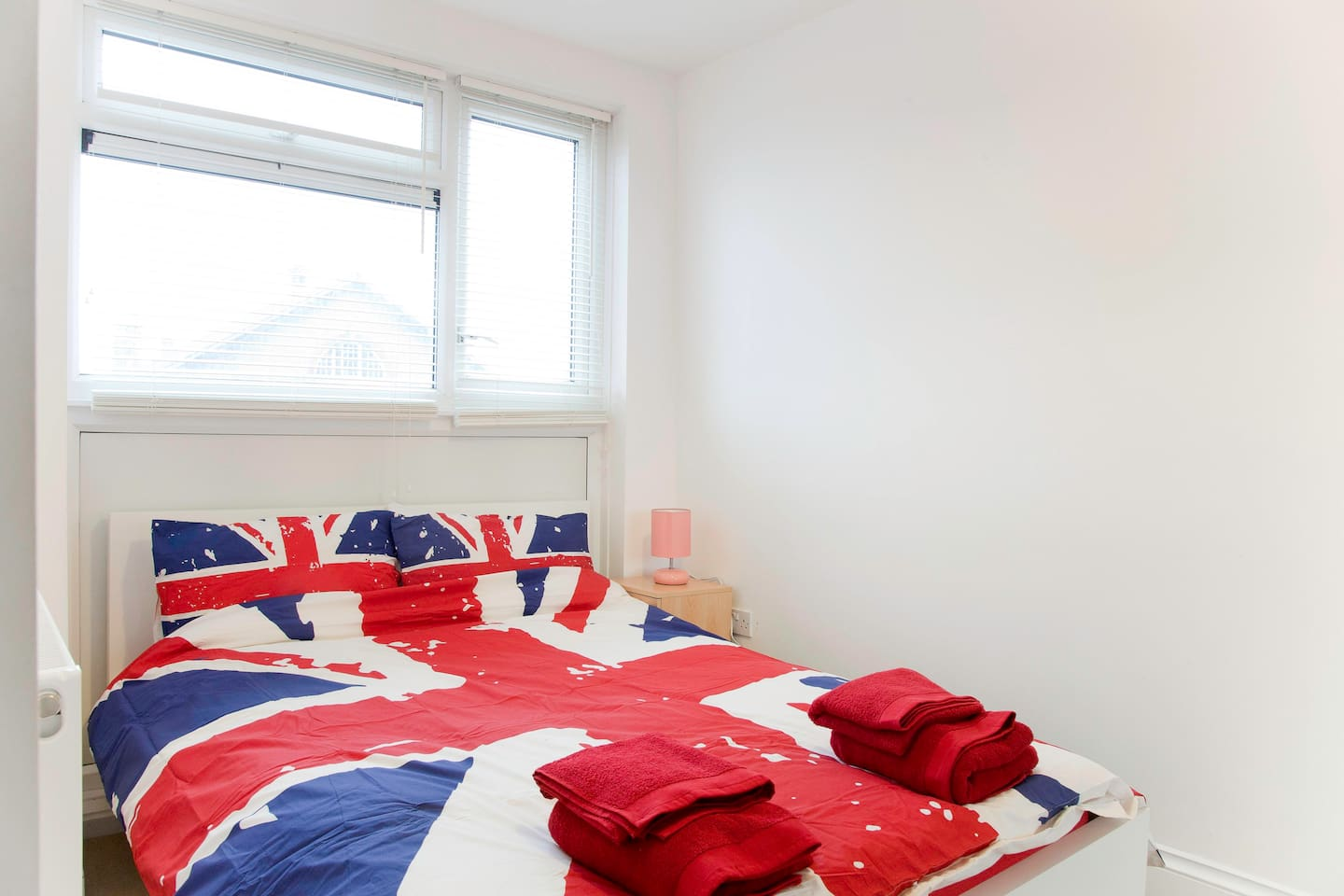 Comfy double bed, light airy room
