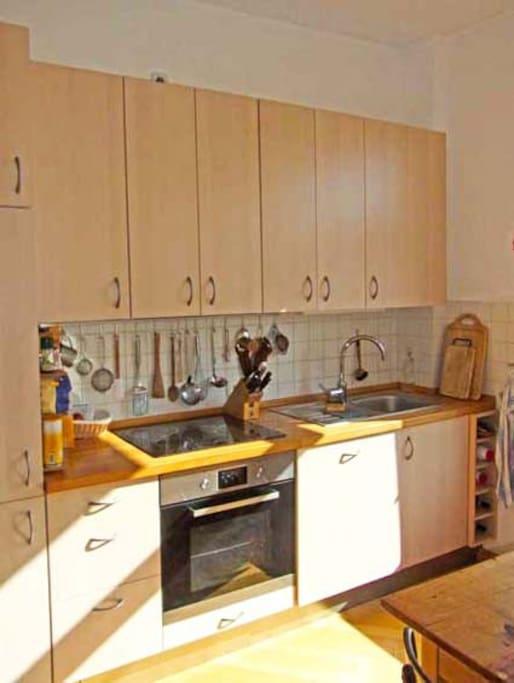 Küche, Backrohr, Induktionsherd, Spülmaschine
