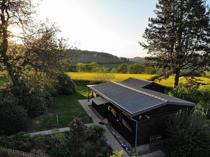 Naturnahes Blockhaus mit fantastischer Aussicht
