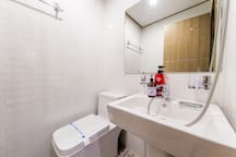 room with toilet