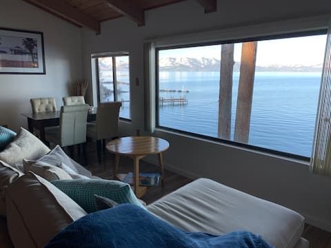 OPEN! Lake Front 1BR w/ Views & Private Beach!