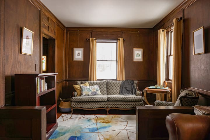 There is plenty of seating in our Parlor Room to relax and have a conversation or read a book