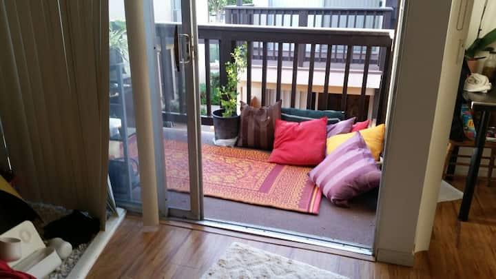 Cozy Sofa in 1 bedroom apt w cats