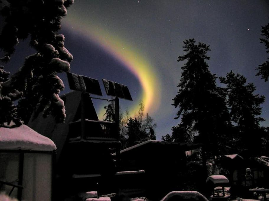 Auroras over the Guest House