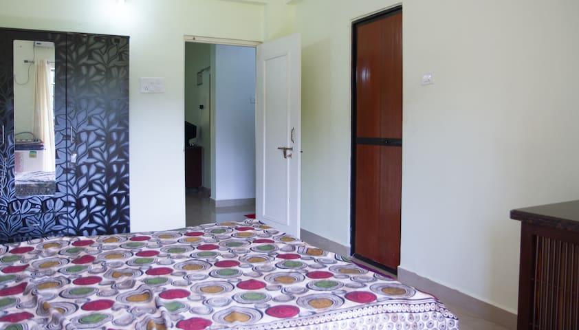 Poolside 1 BHK Apartment in Lush green Goan Resort - Siolim