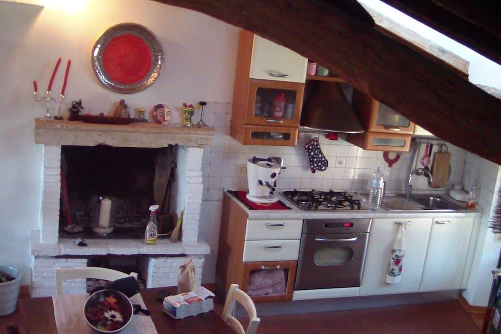 cucina e camino