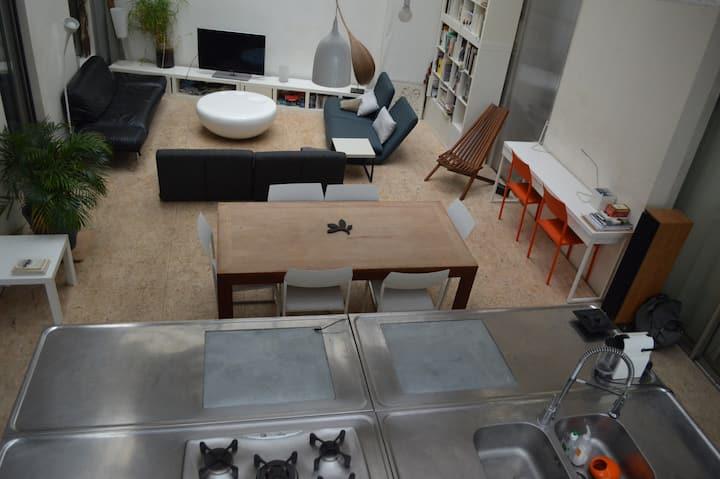 Architectural loft in Paris