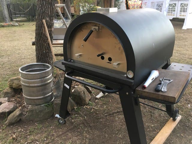 Excellent wood fired pizza oven. Or you can use it to roast beef, potatoes, or whatever you like.