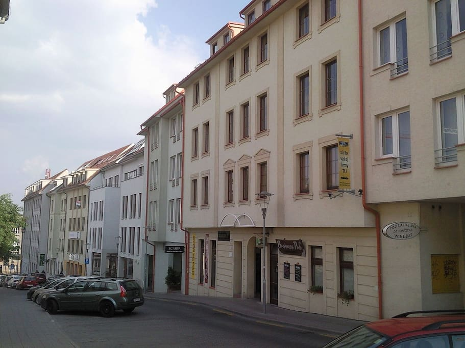 The street view