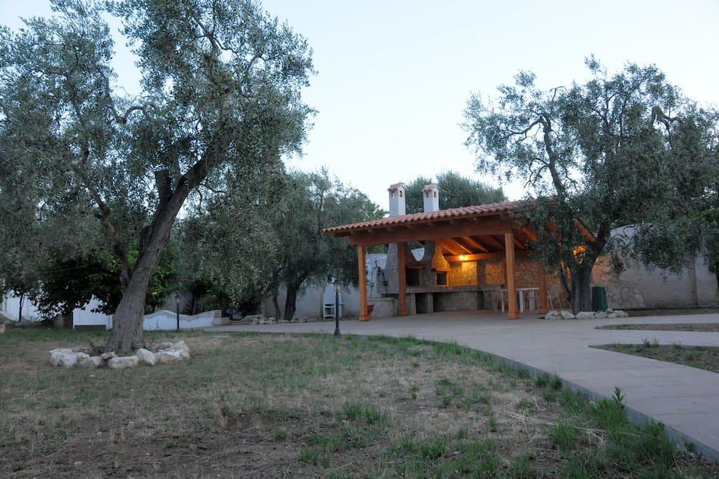 Esterno con zona relax e giardino