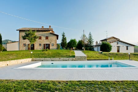 Panoramic country villa with pool - Amandola