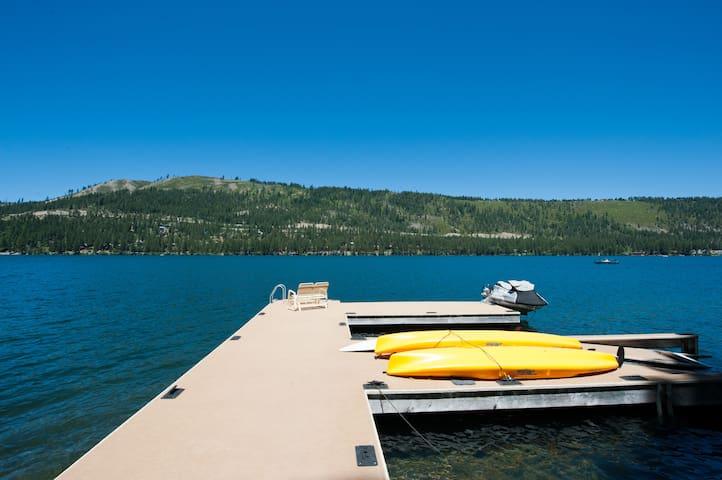 Private Dock! Lakefront Cabin!  Donner Lake