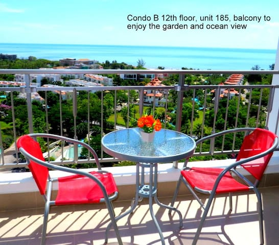 12th floor condo great sea views - Cha-am