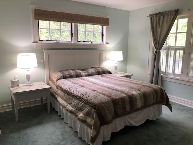 Bedroom one with queen bed.