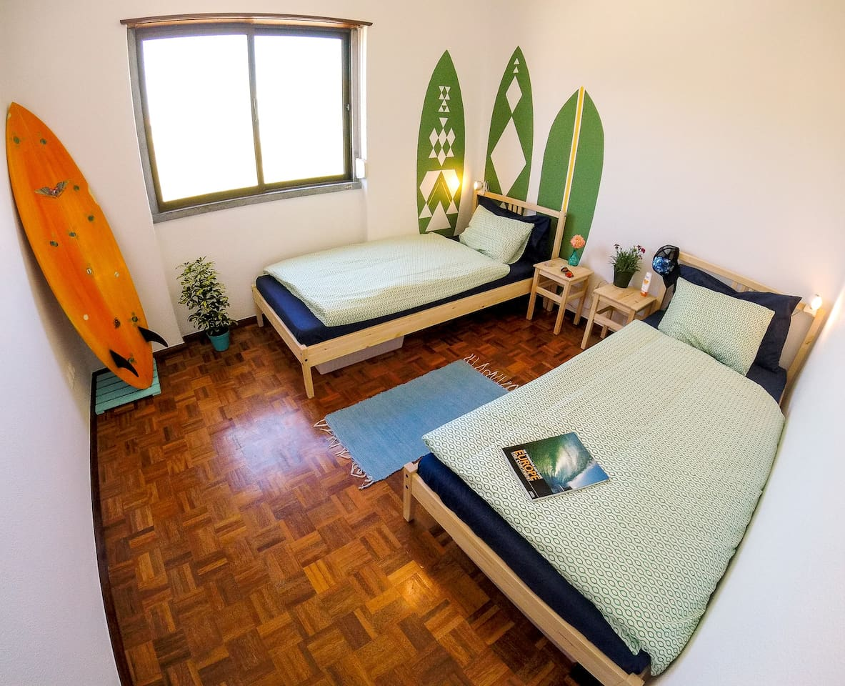 Surfbuddies room - a twin or a double bed room. That's up to you.
