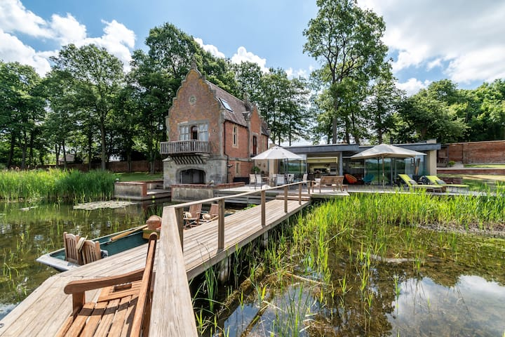 Private Grade 2 Listed Boathouse w/ 62 acre lake.