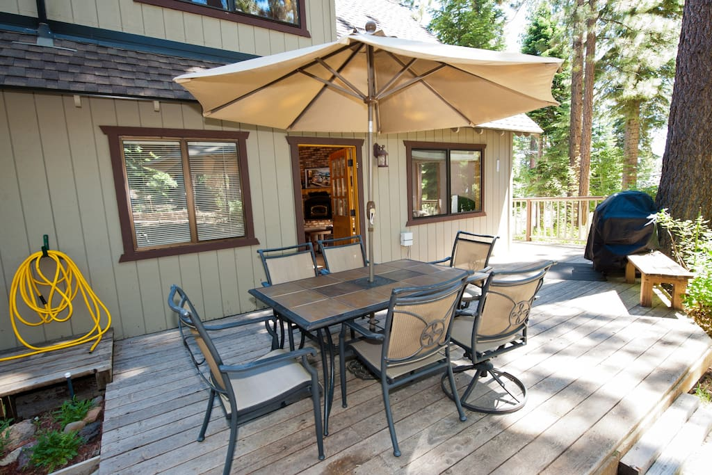 Another view of the deck and BBQ area - great for those relaxing late afternoon meals