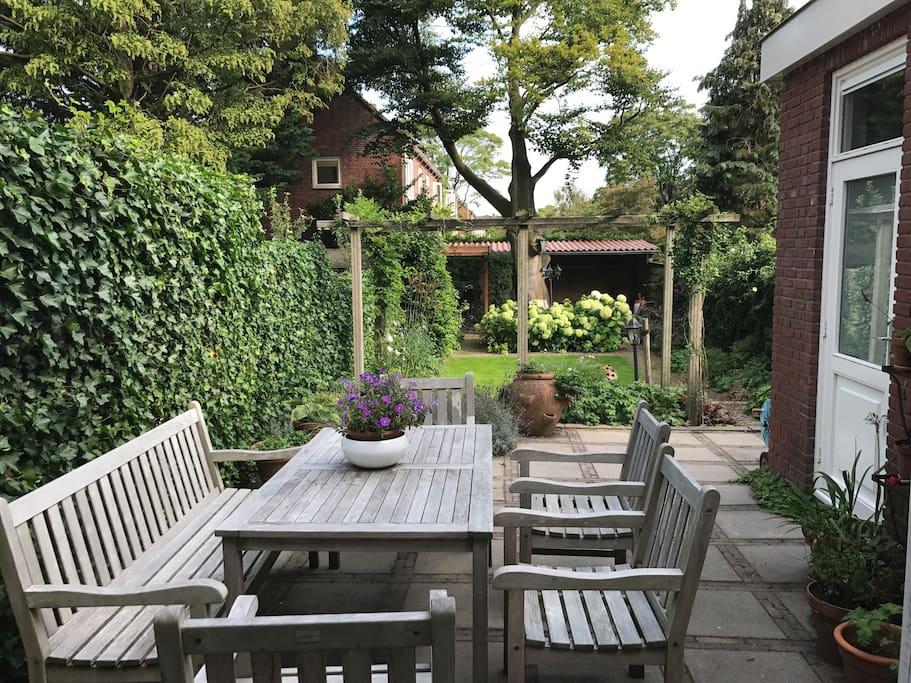 Tuin vanuit huis