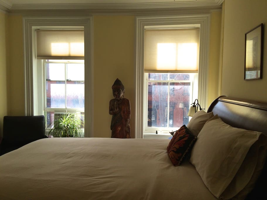 Peaceful, light-filled room