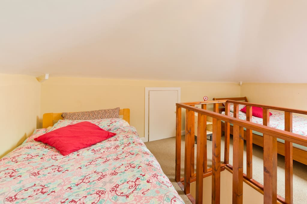 Converted Attic Room with two single beds