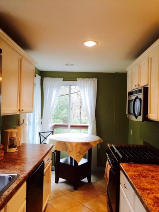 Kitchen and Dining Area -Comes Stocked with Cookware, Plates, Utensils, Coffee Maker and More