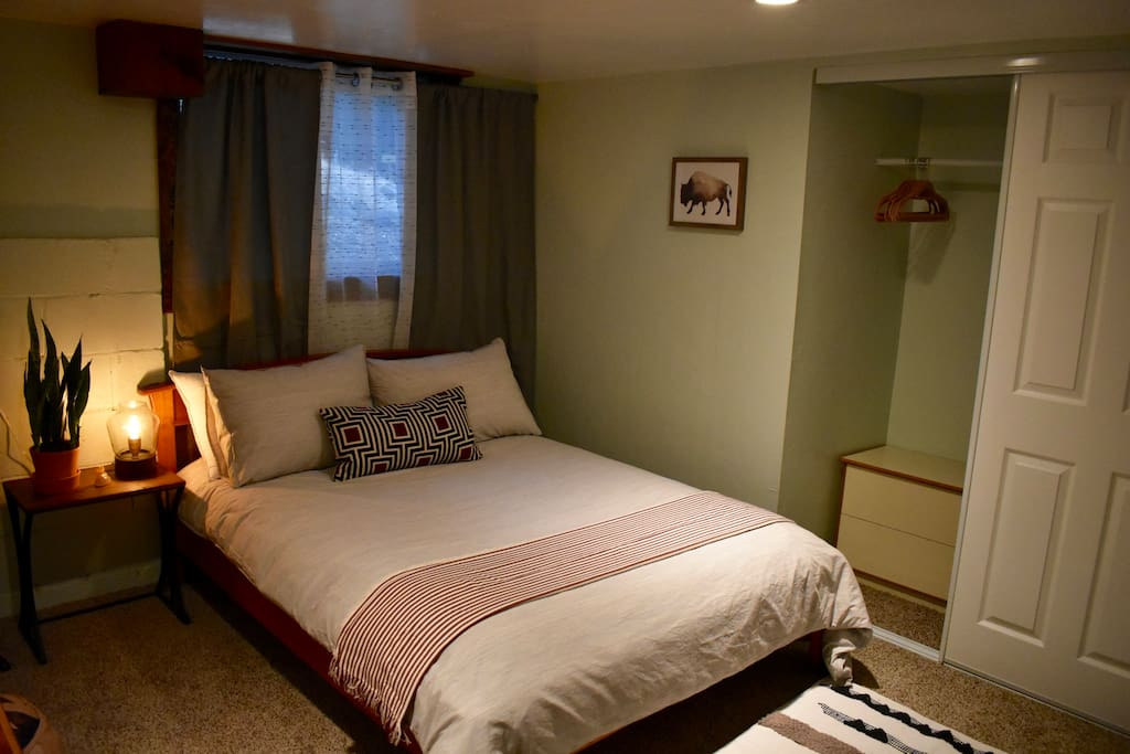 Comfortable Queen bed and plenty of closet space