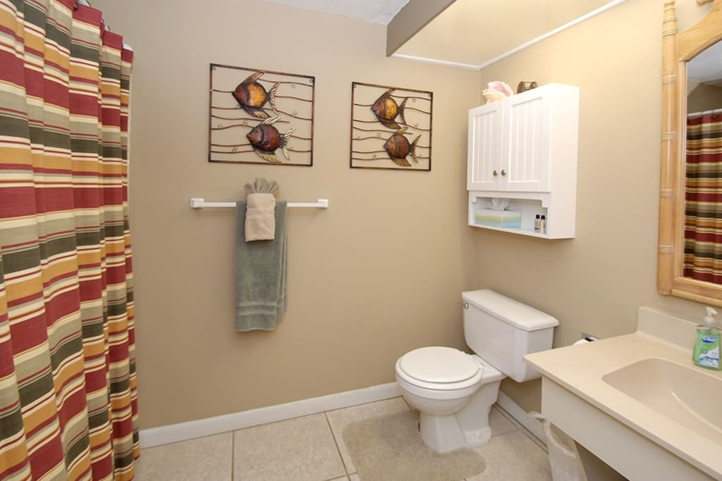 Full size Bathroom with shower and tub
