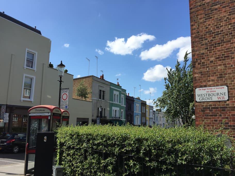 Portobello Road (5 min walk)