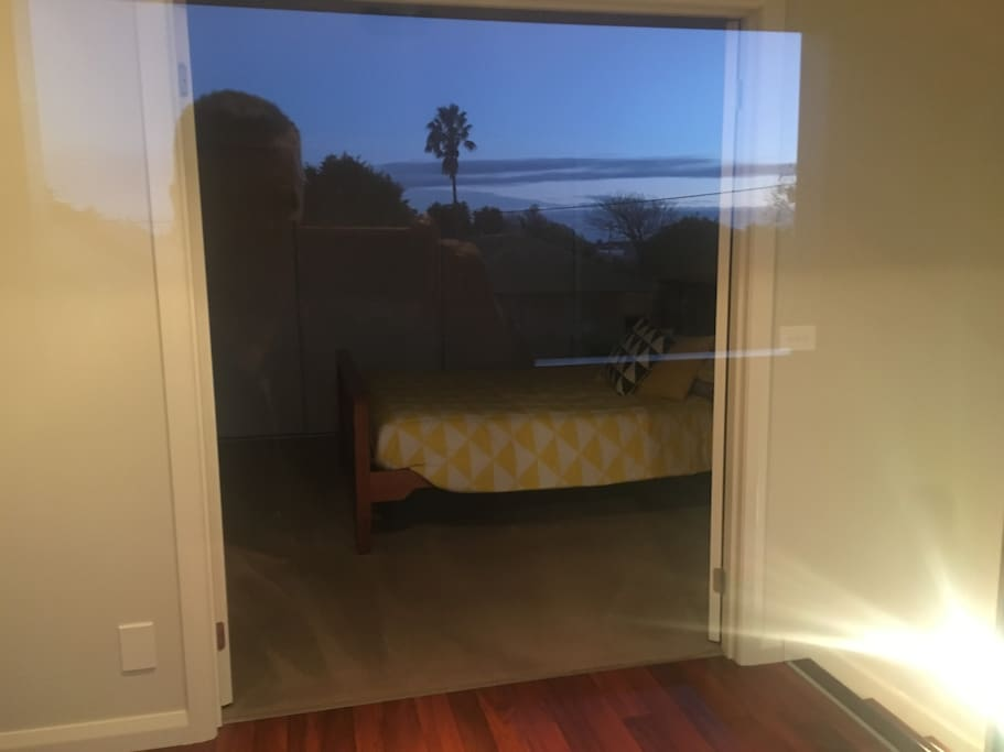 View from Master Bedroom looking through balcony