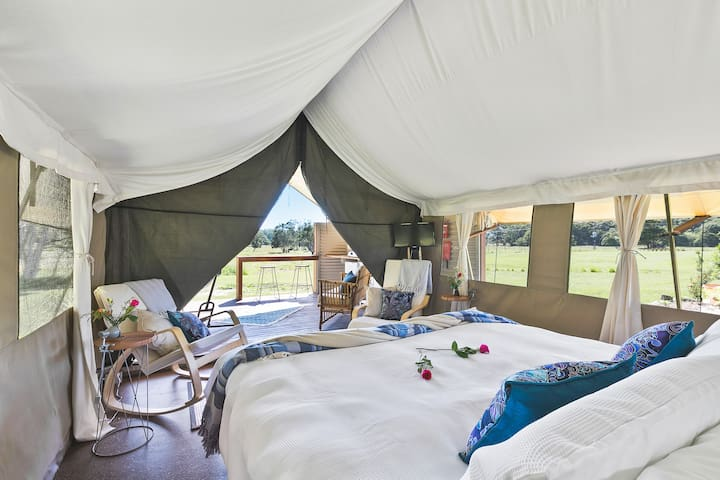 Glamping @ Byron - Luxury Tent #5 - With Bath!