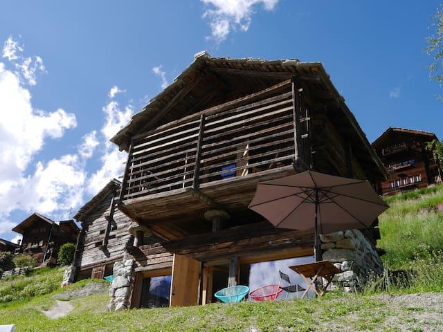 mayen à Olivier, Val d'Hérens, Valais, Sion Suisse - Evolène - Stuga