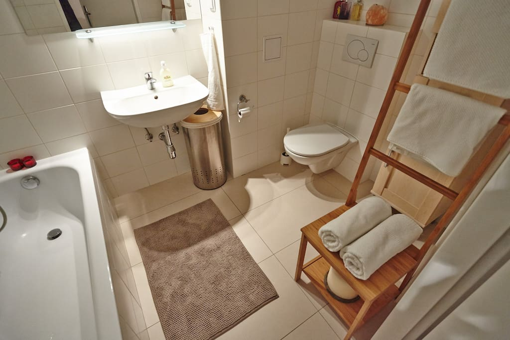 bathroom and all basic accessories included