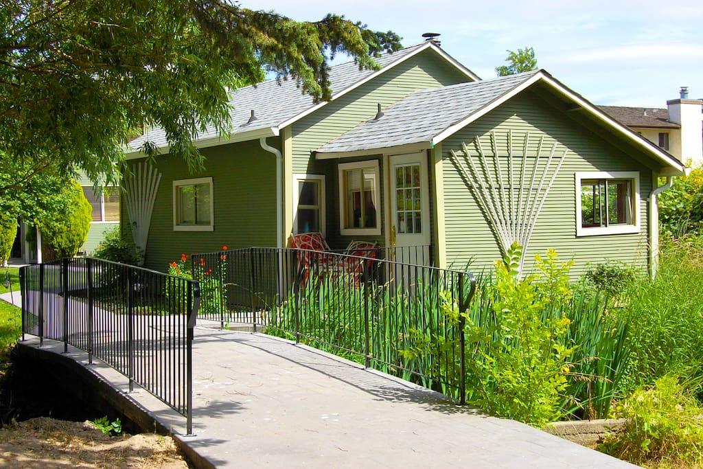 Back end of cottage