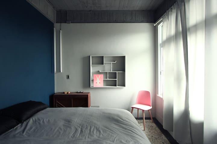 極簡雙人房 ( Mies Van Der Room ) - Houbi District - Minsu (alojamiento típico taiwanés)
