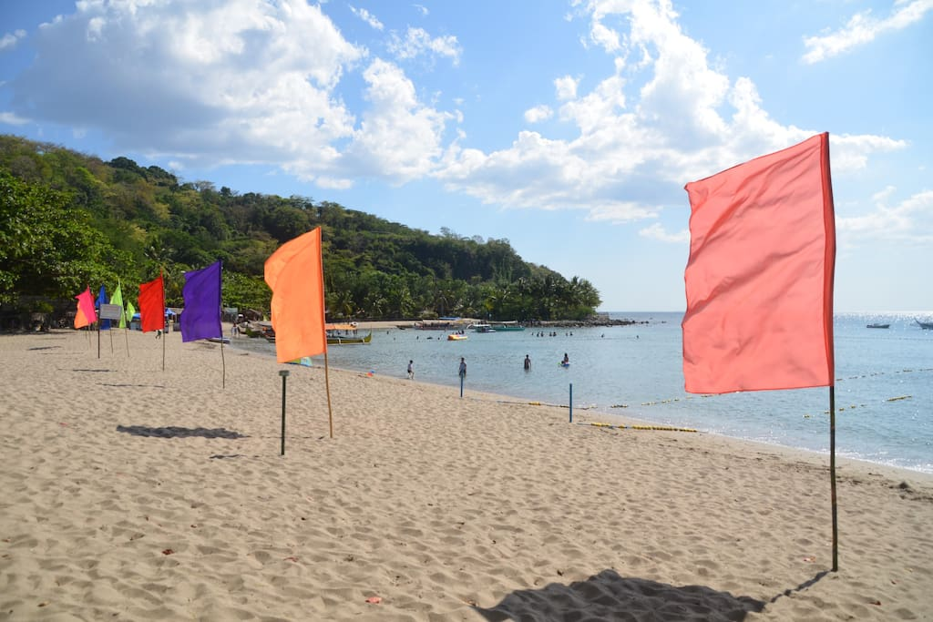 Left side view of Terrazas beach. 1.2 Km from the house. Accessible by car within the subdivision.