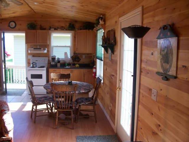 Main Room. Pine Board Finish