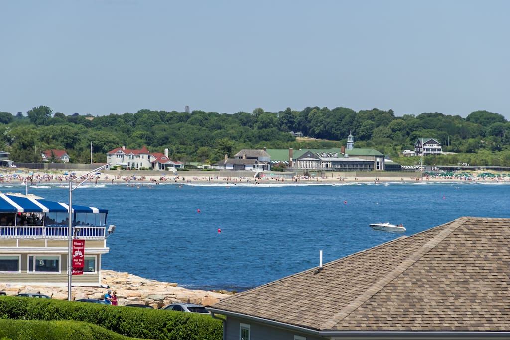 View of the Narragansett Beach from you deck