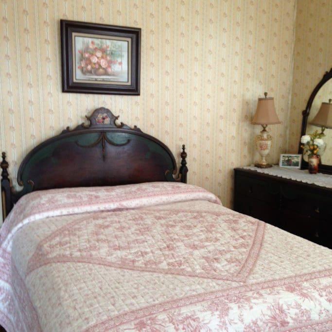 Full size bed third floor
