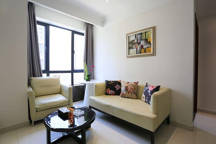 城市中心公园旁,近地铁,舒适的两房两厅 - Foshan - Apartamento