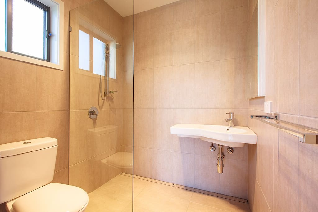 Bathroom with Shower, Toilet & Basin