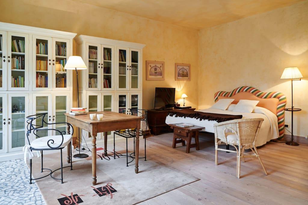 La suite Lavanda luminosa e spaziosa