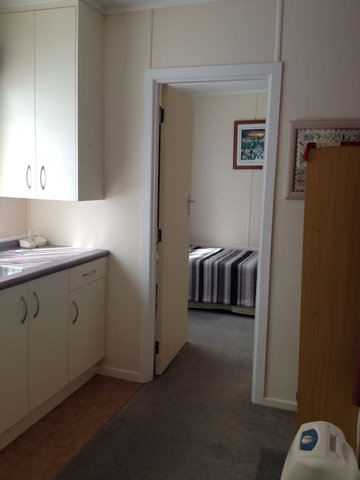 Showing kitchenette next to the bedroom