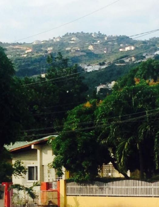 View of Red Hills from the outside street