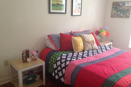 Colorful Cherrywood Guest Room