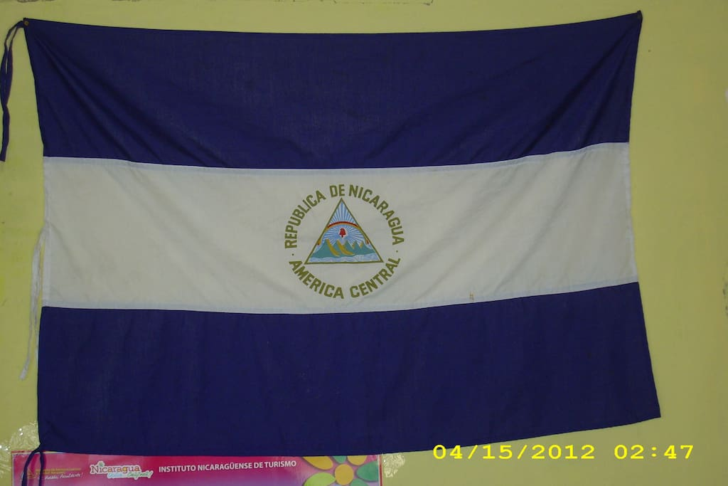 our flag in the livingroom