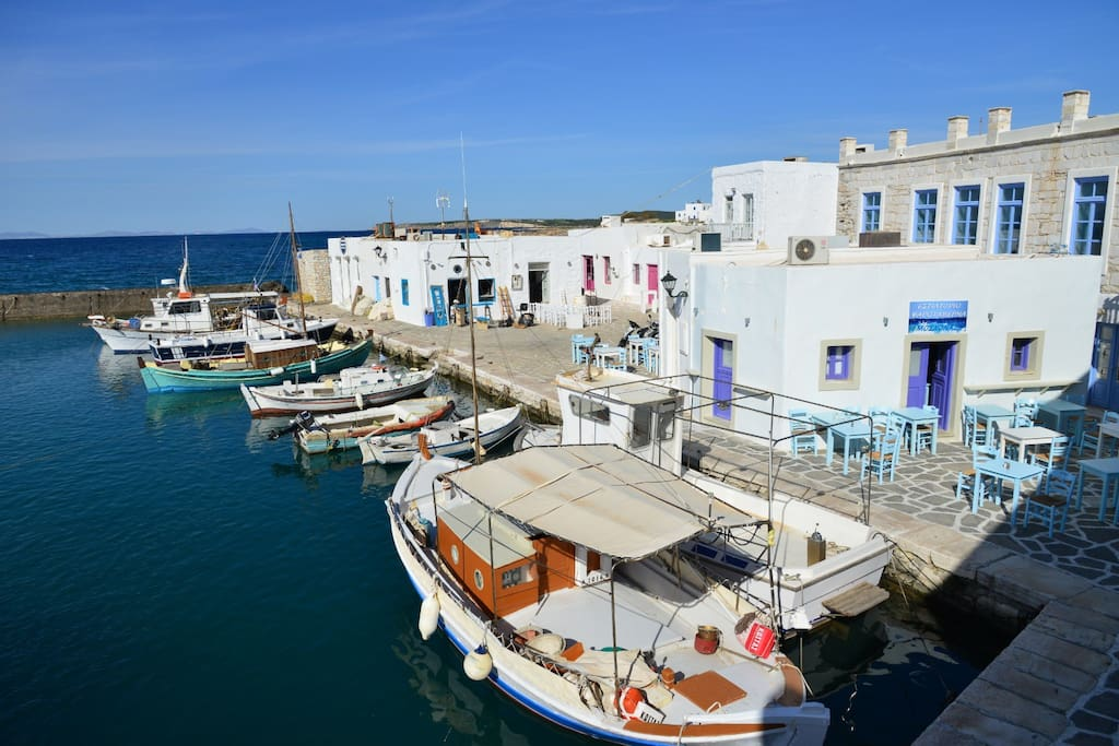 The beautiful old port of Naoussa