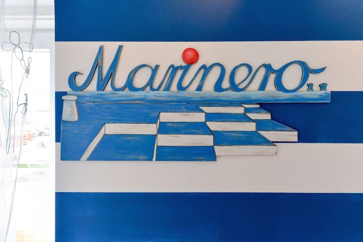 Hand made Marinero sign, with stylish sea organs..
