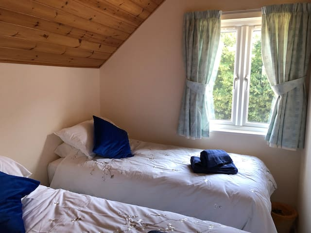 Two single beds in Bedroom 3
