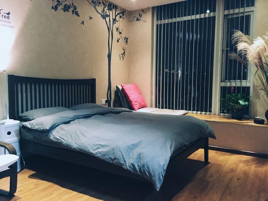全新置换的美式实木床